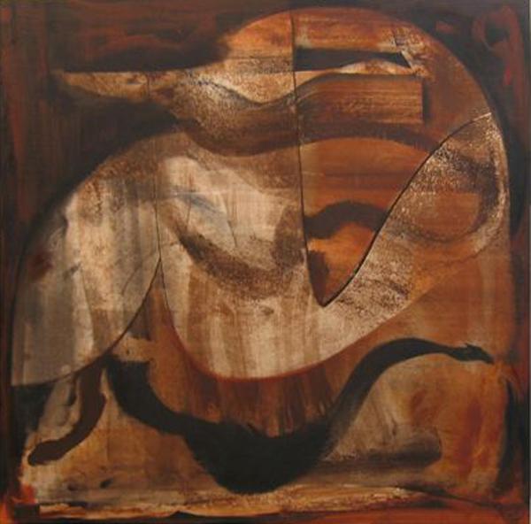 'Five Legends' John King 2006, Acrylic on canvas 39x39in. 99x99cm. #1188