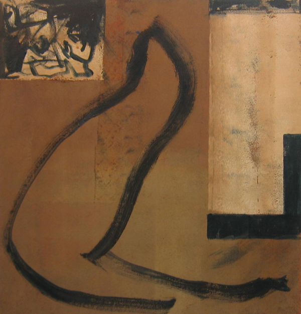 'Silk Route'  John King 2007, Acrylic on canvas 41x39in. 105x100cm. #1201
