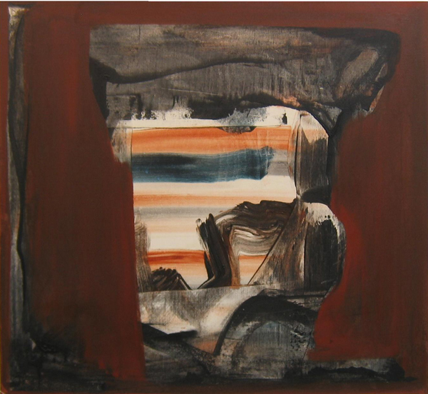 'Stone Passage'  John King 2007, Acrylic on canvas 40x43in. 102x110cm. #1202