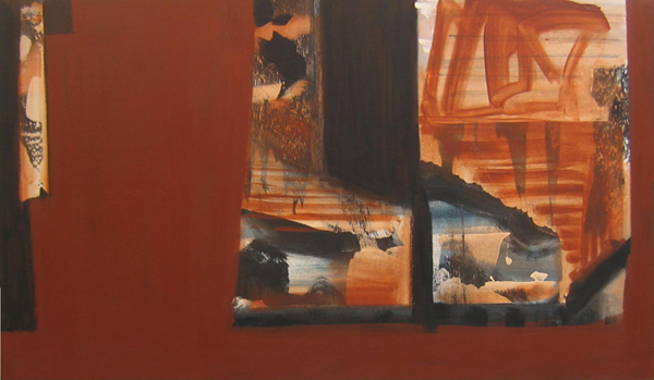 'Journey East'  John King 2007, Acrylic on canvas 33x56in. 84x143cm. #1208