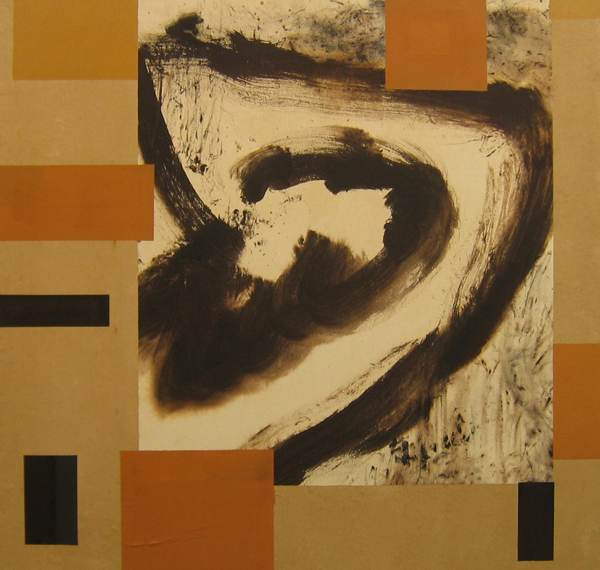 'Mexican Tea' John King 2008, Acrylic on canvas 37x39in. 94x99cm. #1212
