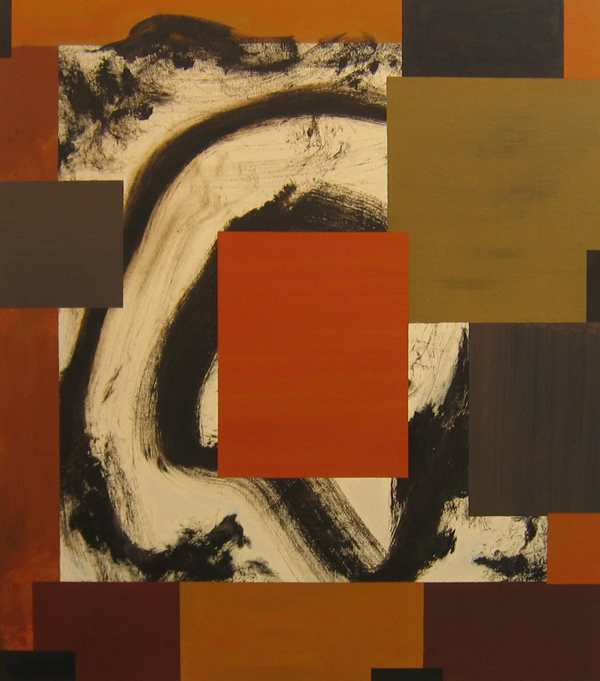 'Percussion' John King 2008, Acrylic on canvas 39x35in. 99x89cm. #1213