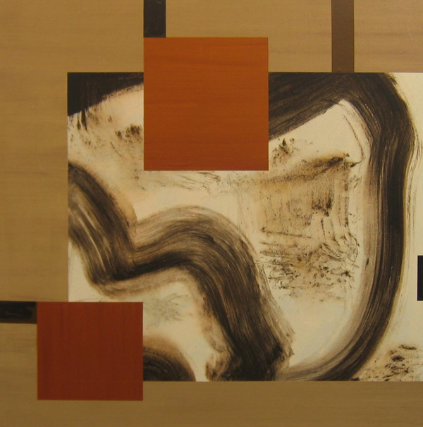 'Telegram' John King 2008, Acrylic on canvas 40x39in. 102x99cm. #1217