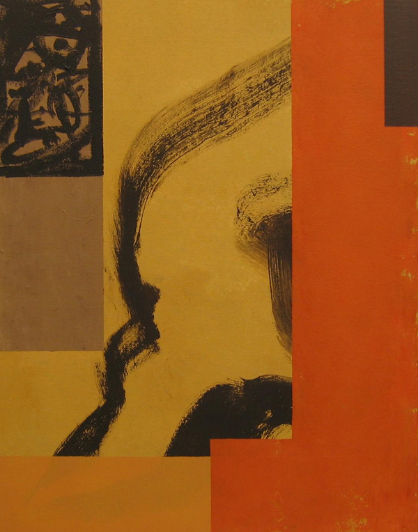 'Emperor' John King 2008, Acrylic on canvas 28x22in. 71x56cm. #1218
