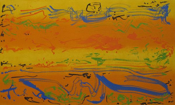Summer Blue John King 2013, Acrylic on canvas 24x39in. #1302