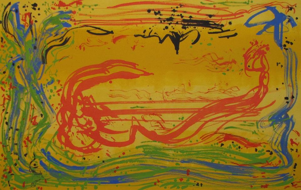 'Spring Rush' John King 2013, acrylic on canvas 25x39in. #1303