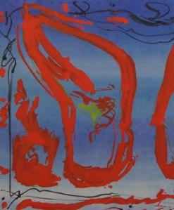 'Ocean Sky' John King 2013, Acrylic on canvas 27x23in. #1307
