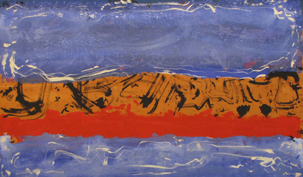 'Driftwood Point' John King 2013, Acrylic on canvas 24x40in. #1317