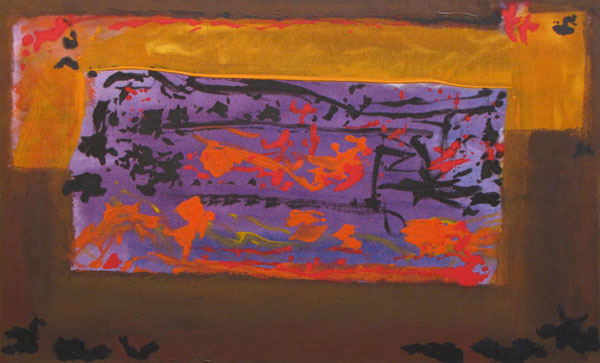 John King   'Treasure Box' 2013, Acrylic on canvas 25x40in. #1322