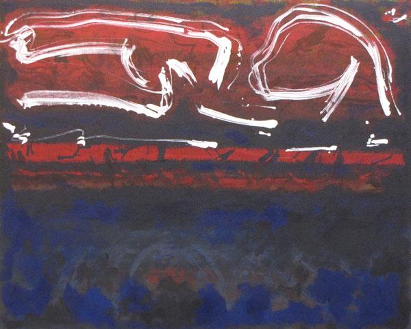 'Midnight Bay' John King 2013, Acrylic on canvas 31x39in. #1326
