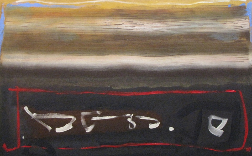 'Journey North' John King 2013, acrylic on canvas 34x54in. #1339
