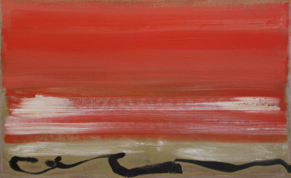 'Eagle Red' John King 2013, acrylic on canvas 26x41in. #1350