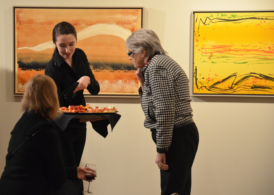 3-Opening of Calligraphic Influences, Buhler Gallery, Feb 6-May 25, 2014