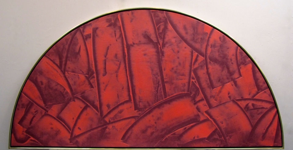 1996, 'Easter Drum', acrylic on canvas, 40x80in., exhibition of ECAS
