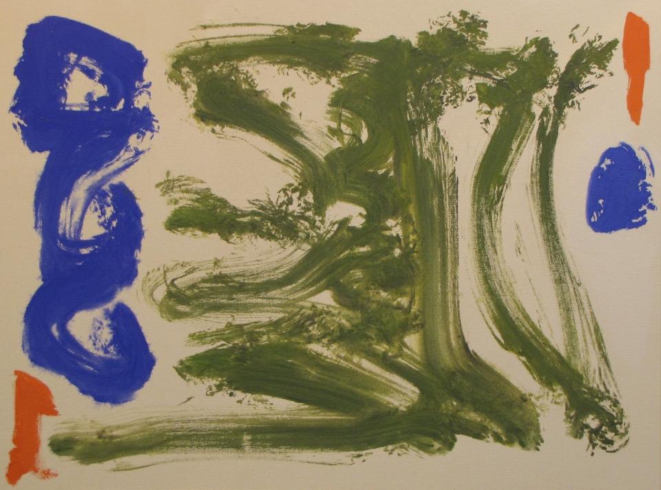 'Fiddle Blues' John King 2014, acrylic on canvas 30x40in. #1372